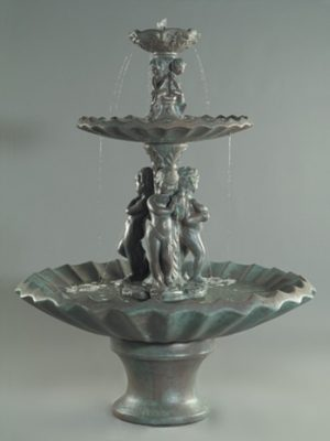 3-WATER NYMHIS FOUNTAIN