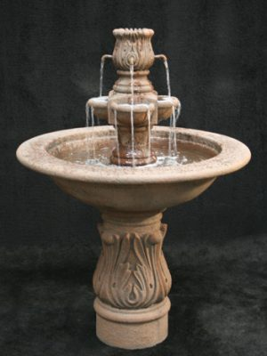 ASSISI FOUNTAIN WITH COBRA PEDESTAL