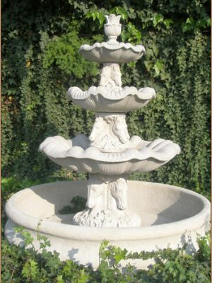 HORSE FOUNTAIN 3-TIER W55 BASIN