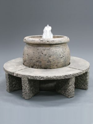 MALL FOUNTAIN WITH GRANITE BENCHES